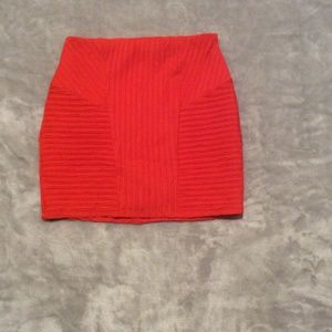 Red mini skirt with zipper, size M by NASTY GAL
